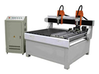 Double Head Cylinder CNC Router